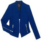 Blue biker jacket