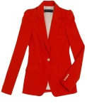 Red structured blazer