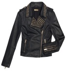Studded leather jacket 169