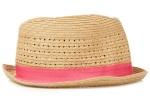 Stitch detail trilby hat