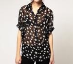 ASOS Liquorish star print blouse