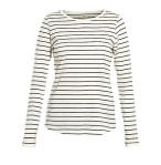 New Look Black and white Breton top
