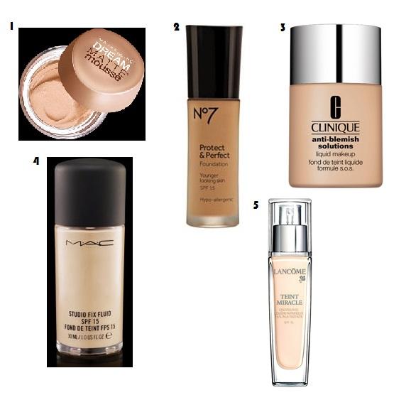 Lancôme, MAC Cosmetics, No7, Boots, Foundation, Maybelline, Clinique
