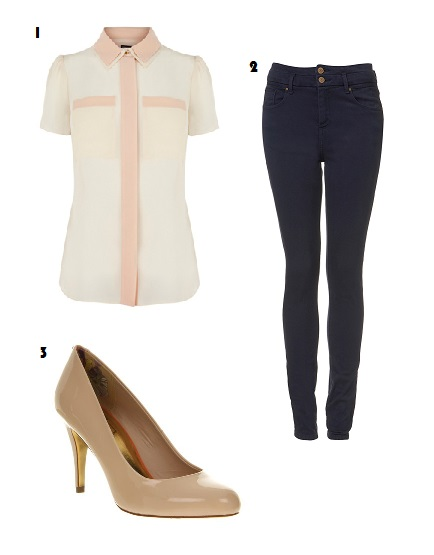 Warehouse, Blouse, Topshop, Jeans, High-waisted, Fashion, Nude, Shoes, Ted Baker, Office, High heels, Outfit, Today I'm Wearing