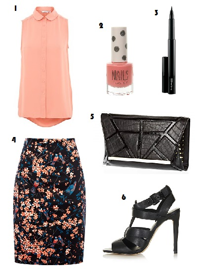 What to Wear, Fashion, Style, New Look, Oasis, Bird print, Skirt, Nail polish, MAC Cosmetics, Penultimate eye liner, River Island, Topshop