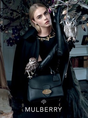 Cara Delevingne, Mulberry, AW'13, Fashion, Photography, Owls, Style, Bags, Tim Walker