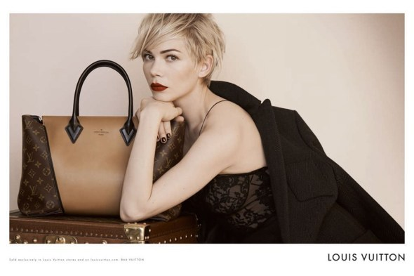 Michelle Williams, Louis Vuitton, AW13, Fashion, Bags, Style, Celebrity, Peter Lindbergh, Sam McKnight, Stéphane Marais, Marc Jacobs