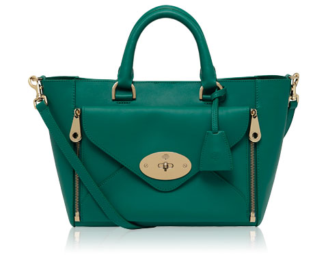 Mulberry, Willow, Tote, Emerald, Bag, Designer