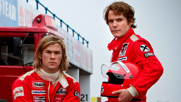 Chris Hemsworth, Daniel Bruhl, Rush, Film, Fashion, Style, Designer, Salvatore Ferragamo, Niki Lauda, James Hunt, Formula 1
