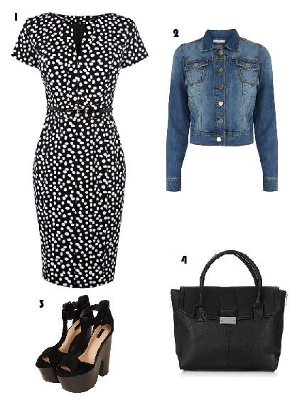 Jessica Alba, Celebrity, Style envy, Oasis, Topshop, Polkadot, Fashion