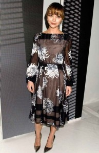 Christina Ricci, Carolina Herrera, New York Fashion Week, SS'14, Fashion, Celebrity